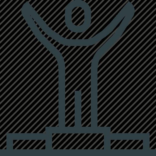 business, people, winner icon