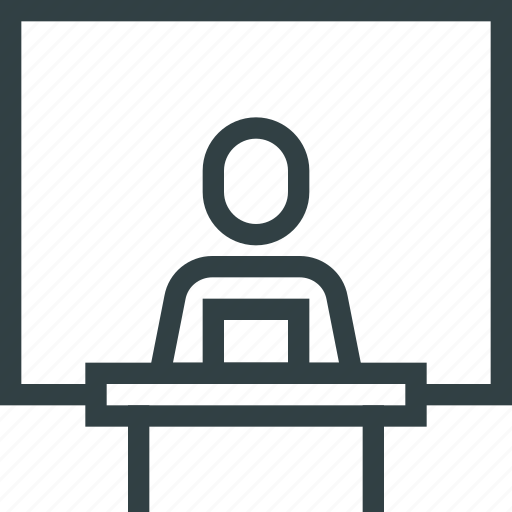 manager, office, people, presentation, speaker icon