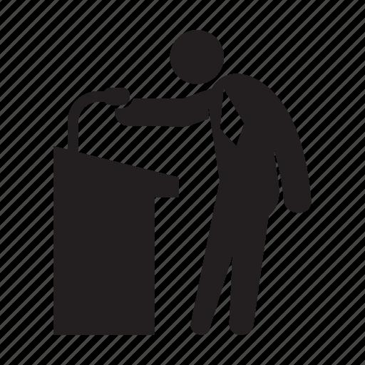 Conference, leader, podium, speaker icon - Download on Iconfinder