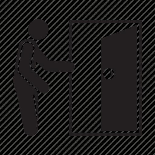 door, exit, people, solution icon
