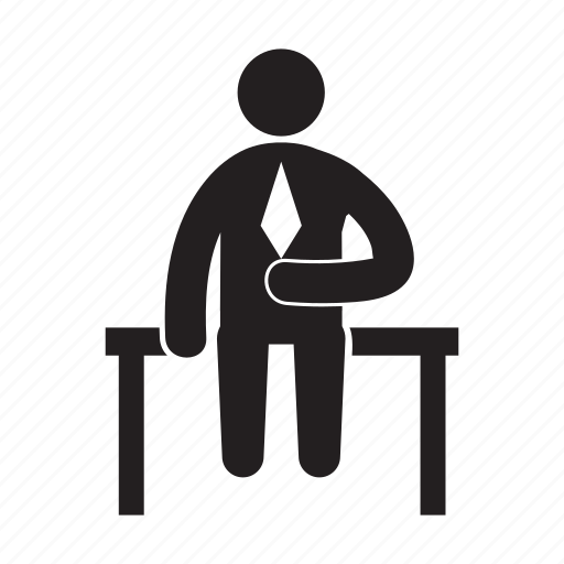 Businessman, employer, entrepreneur, office, people, sitting icon - Download on Iconfinder