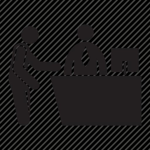 People, receptionist, registration icon - Download on Iconfinder