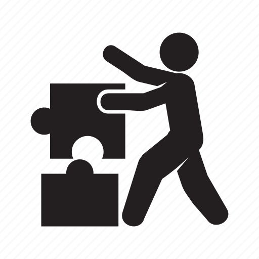jigsaw, people, puzzle, solve icon