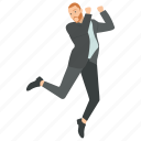 businessman celebrating achievement, businessman character, dancing businessman, successful business character, young businessman dancing icon