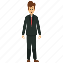 businessman, businessman avatar, happy businessman, happy smiling businessman, young business character icon