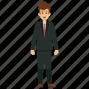 businessman, businessman avatar, happy businessman, happy smiling businessman, young business character icon