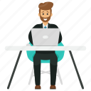 business avatar, business character, business entrepreneur, business entrepreneur at work, business owner, freelancer icon