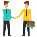 business partners, business partnership, business profit concept, male business partners, profitable partnership icon