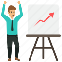business growth and success, business profit, happy successful businessman, professional achievement, successful business happiness icon
