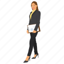 business woman, business woman avatar, business woman holding clipboard, female employee, professional woman icon