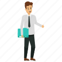 businessman, businessman avatar, male employee, male office worker, young business character icon