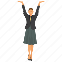 business character, business woman, business woman avatar, excited business woman, successful business woman icon