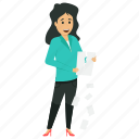 angry business woman, breach of contract, breaking contract, broken contract, business character icon