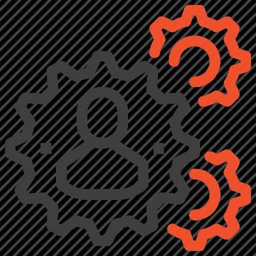 human, people, production, team, teamwork, thinking, work icon
