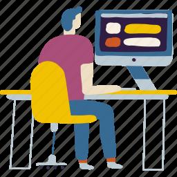computer, office, people, programmer, software, technology, work
