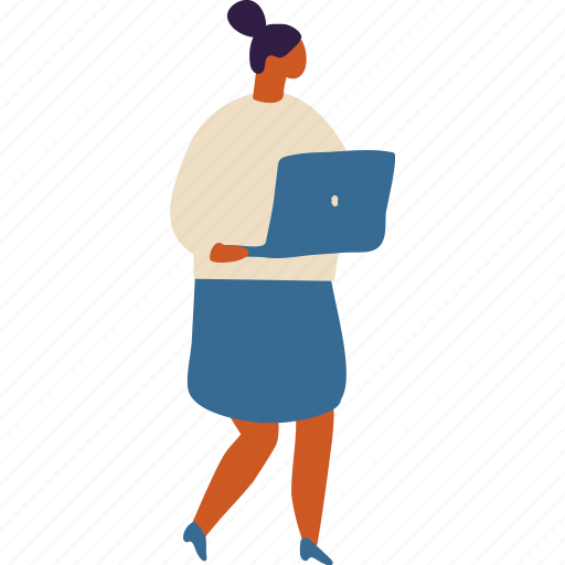 Business, laptop, marketing, money, office, seo, woman illustration - Download on Iconfinder
