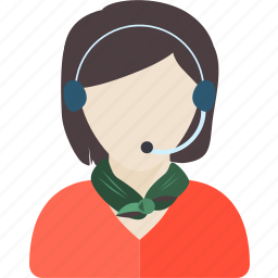 assistant, call center, distribution, female, phone, woman, working icon