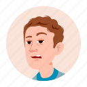 business, emotion, expression, face, facebook, icon, man icon