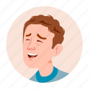 business, emotion, expression, face, facebook, man, people icon