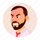 boss, business, emotion, expression, man, old, people icon