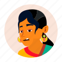 expression, face, hindu, icon, indian, people, woman icon