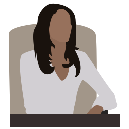 business lady, business woman, chief, director, manager, person, woman in a chair icon