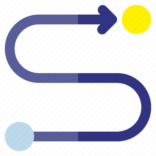 business, finance, investment, plan, route icon
