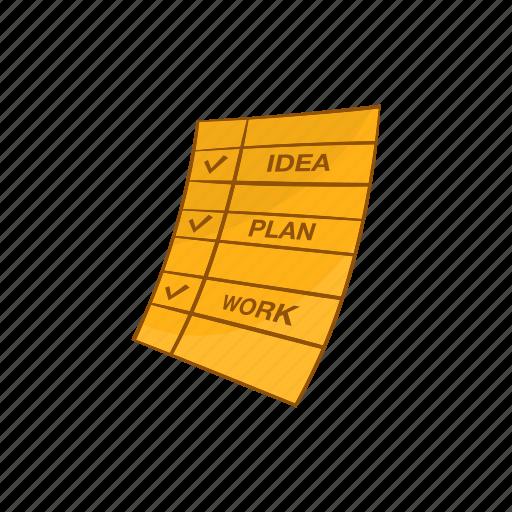 Business, cartoon, idea, plan, step, success, work icon - Download on Iconfinder