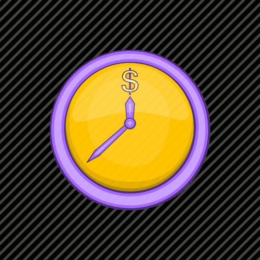 Bank, business, cartoon, cash, clock, dollar, drawn icon - Download on Iconfinder