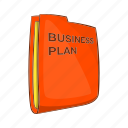 business, cartoon, finance, idea, light, management, plan icon