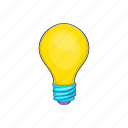 bulb, business, cartoon, concept, idea, lamp, light icon