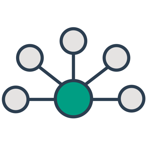 api, communication, connection, integration, interaction, it, network icon