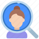customer, analysis, search, loupe, magnifyingglass, person, user icon