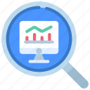 monitoring, monitor, analyse, analysis, computer icon