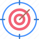 targeting, goals, target, targeted, archery icon