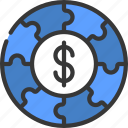 business, strategy, puzzle, circle, money