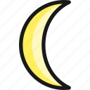 night, moon, new