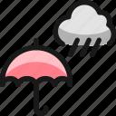 rain, cloud, umbrella