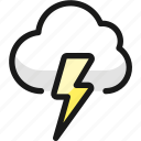 weather, cloud, thunder