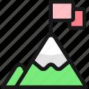climb, top, business