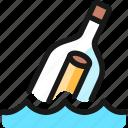 business, message, bottle