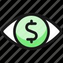 cash, eye
