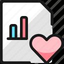 data, file, bars, heart