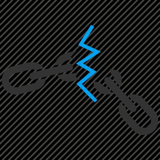 Broken, chain, cut, destroy, destruction, divide, fail icon - Download on Iconfinder
