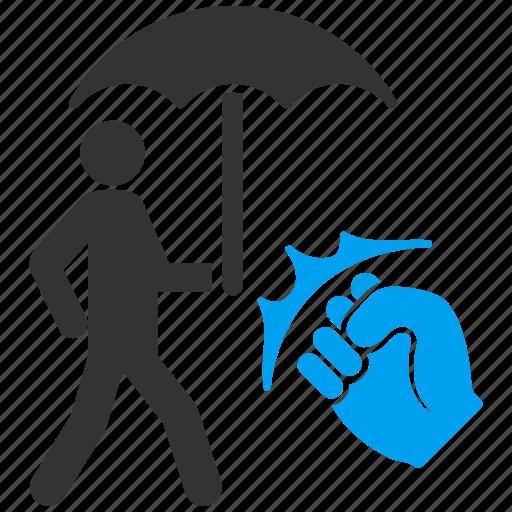 coverage, crime, guard, safety, security, shield, umbrella icon