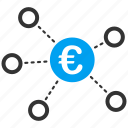 connection, euro network, financial transactions, interface, share, structure, virtual links icon