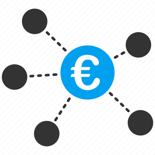 Business relations, connection, euro, group, network, structure, virtual links icon - Download on Iconfinder