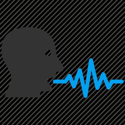 Audio, chat, communication, sound signal, speaker, talking, user icon - Download on Iconfinder