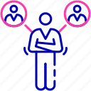 affiliation, business connection, emotional connection, interrelationship, working relationship icon icon