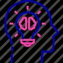brain storm, business idea, creator, founder, innovator, opportunity icon icon